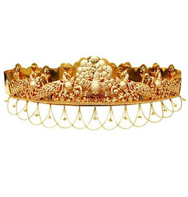 gold and diamond waist belt