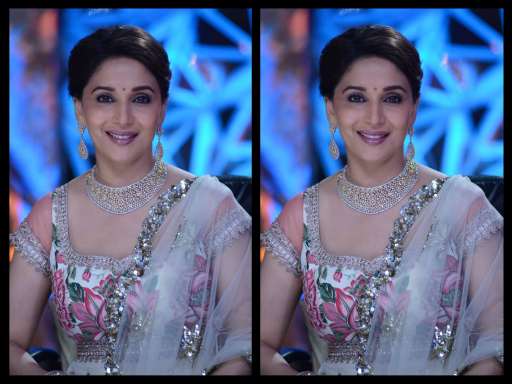 madhuri dixit in diamond necklace