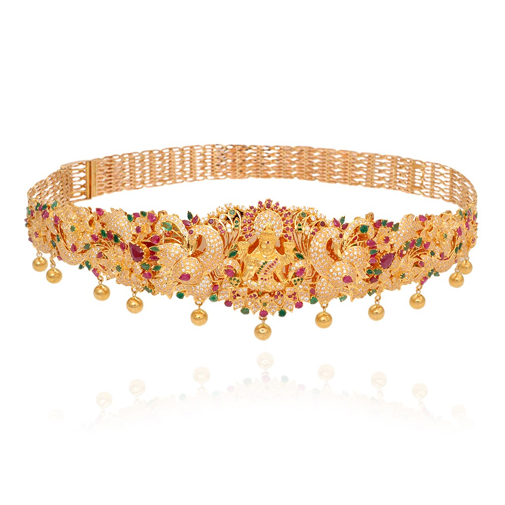 bridal-gold-lakshmi-waist-belt-with-ruby-&-emerald-stones