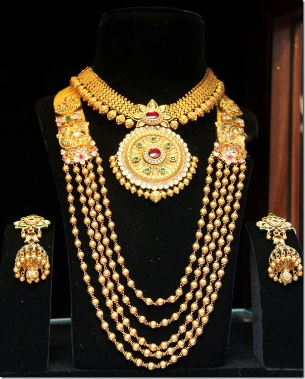 Gold Necklace and Chandra Haram