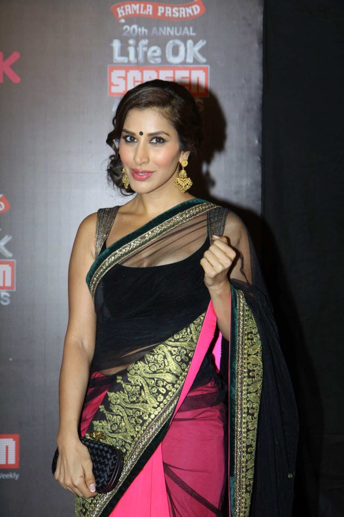 sophie chaudhary in gold earings