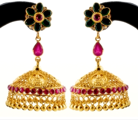 Lakshmi Jhumkas_earrings