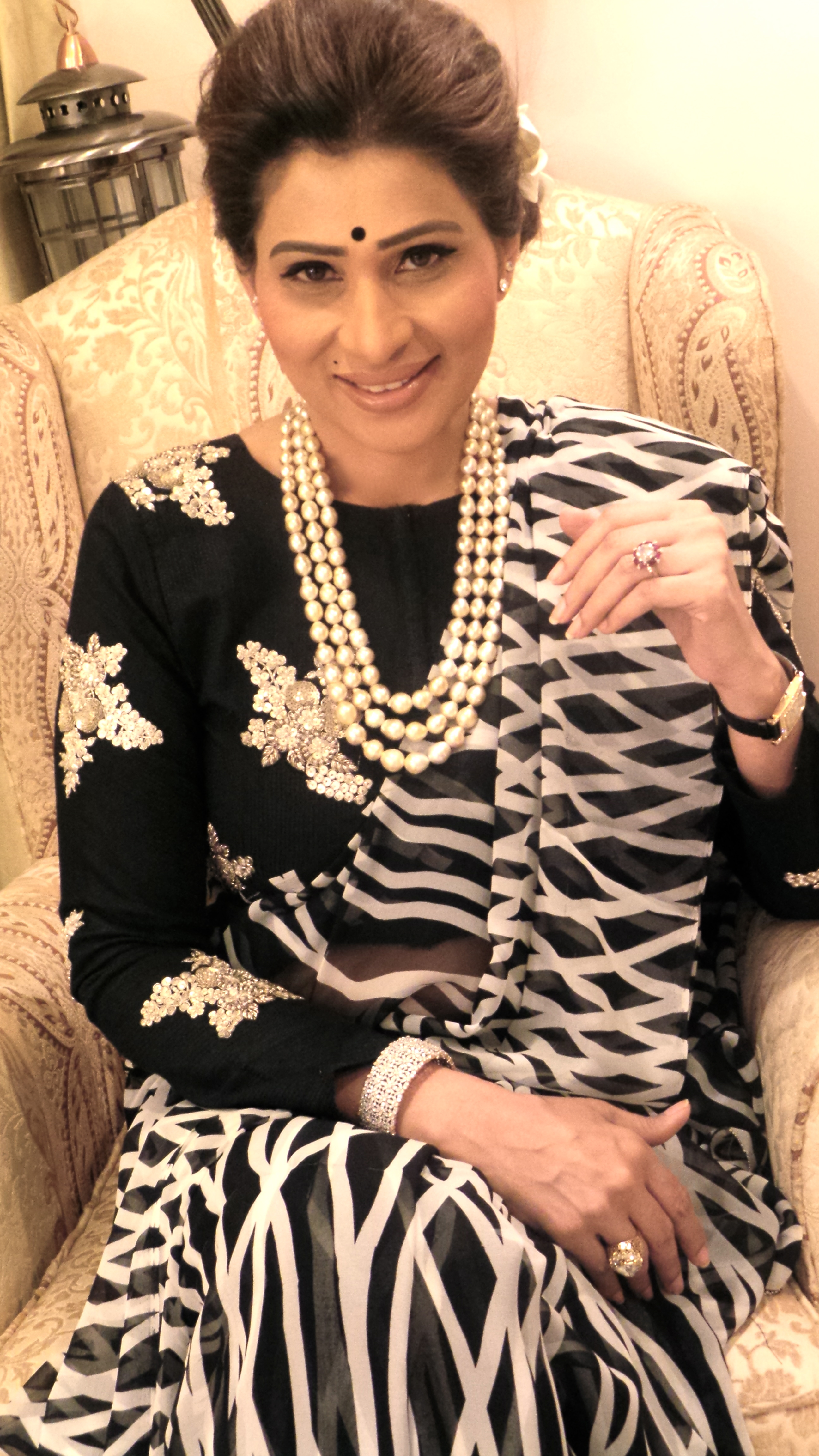 Shreedevi choudary in pearl chain