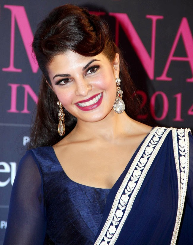 Jacqueline Fernandez in diamond earrings