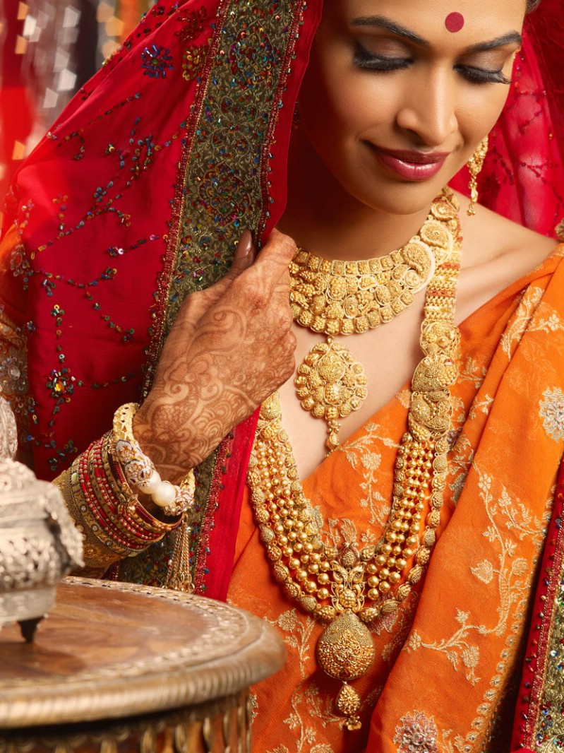 Actress Salony Luthra in bridal jewellery ...