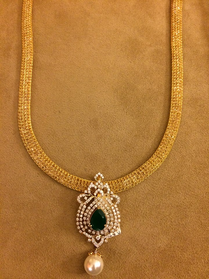 gold mesh chain with pendants – boutiquedesignerjewellery.com