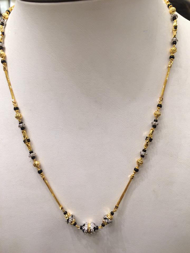 Black Beads Mangalsutra design