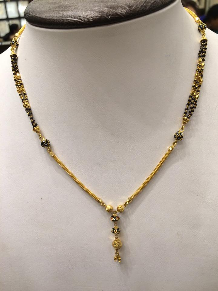 Black Beads Mangalsutra gold
