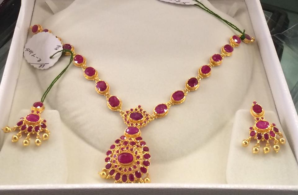 jewellery ruby heritage necklace antique designs