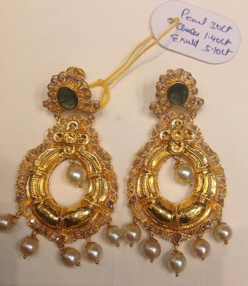 Gold Chandbali Earrings