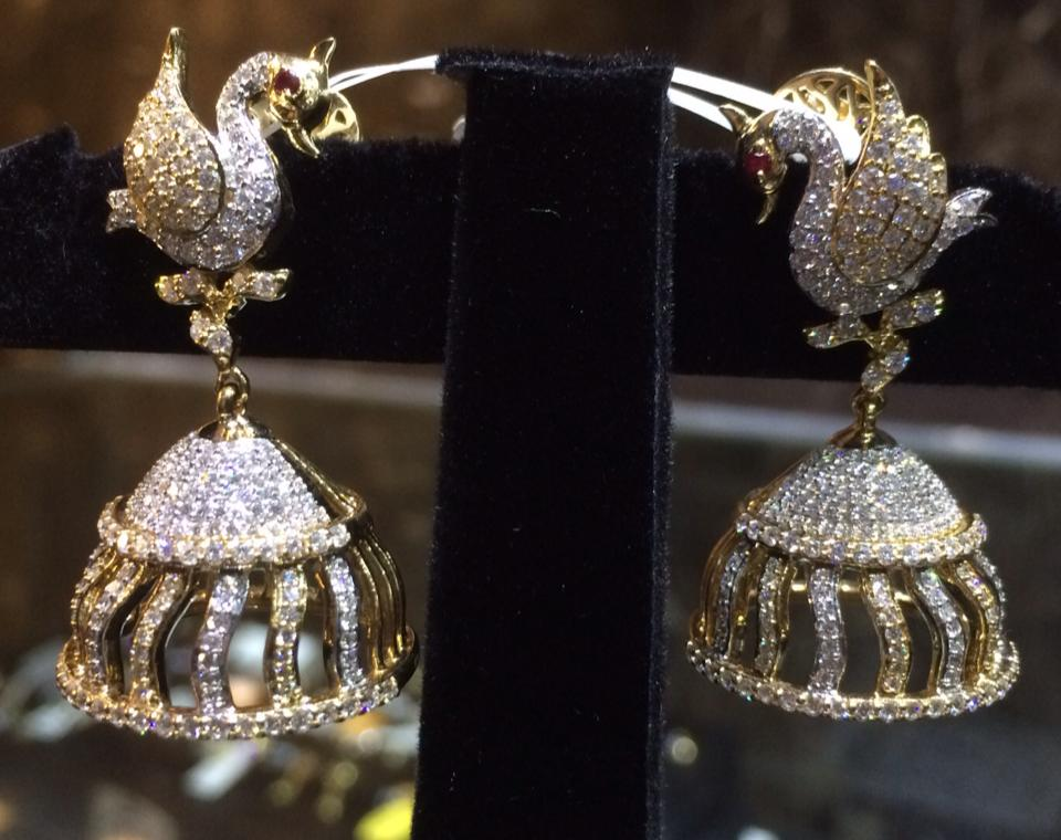 diamond jhumka collection sets