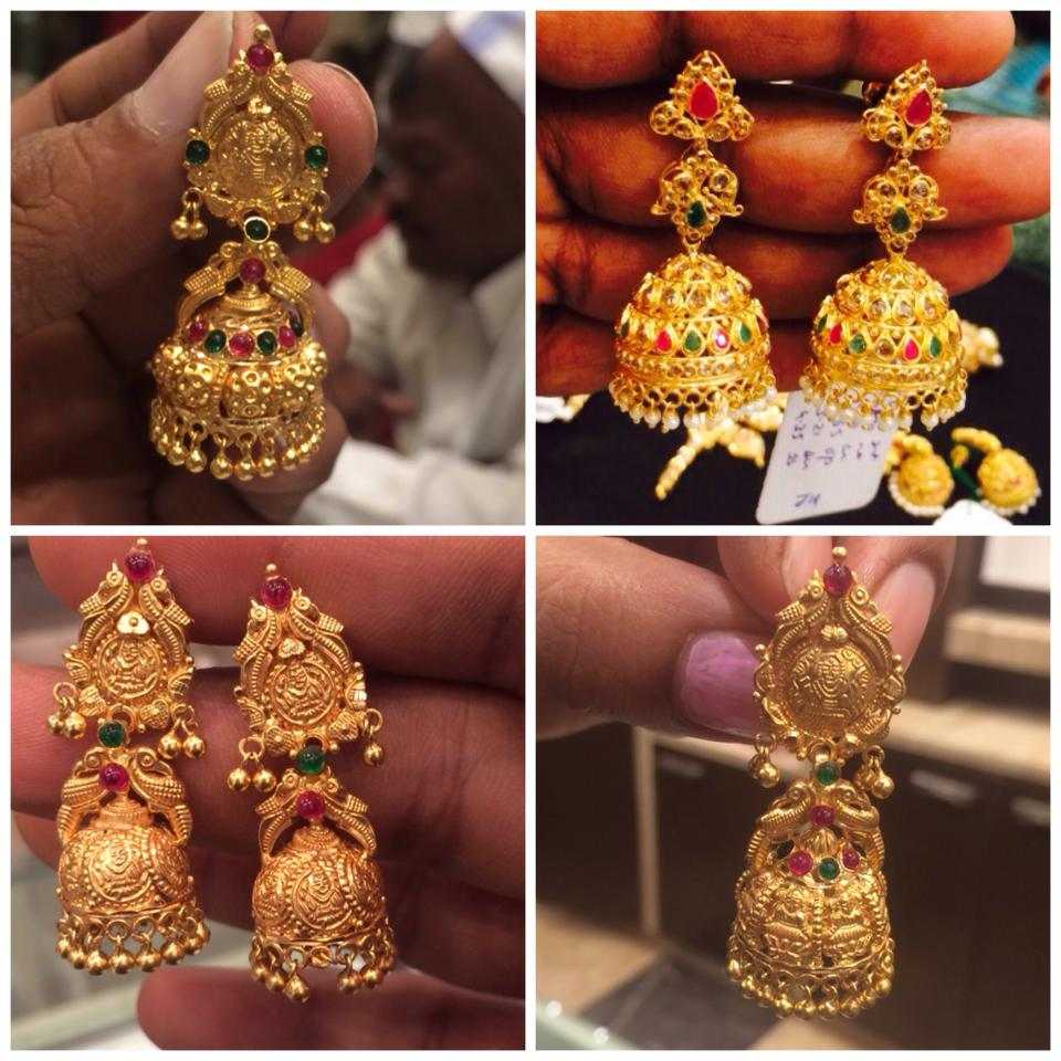 gold jhumkas collection – boutiquedesignerjewellery.com