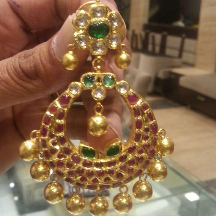 Ruby Chandbali Earrings Latest Design Boutiquedesignerjewellery Com