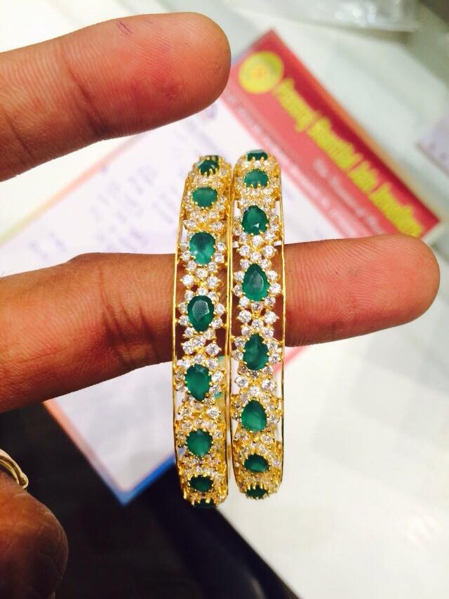 emerald diamonds bangles bangle jewels antique diamond with india gold south rkr uncut