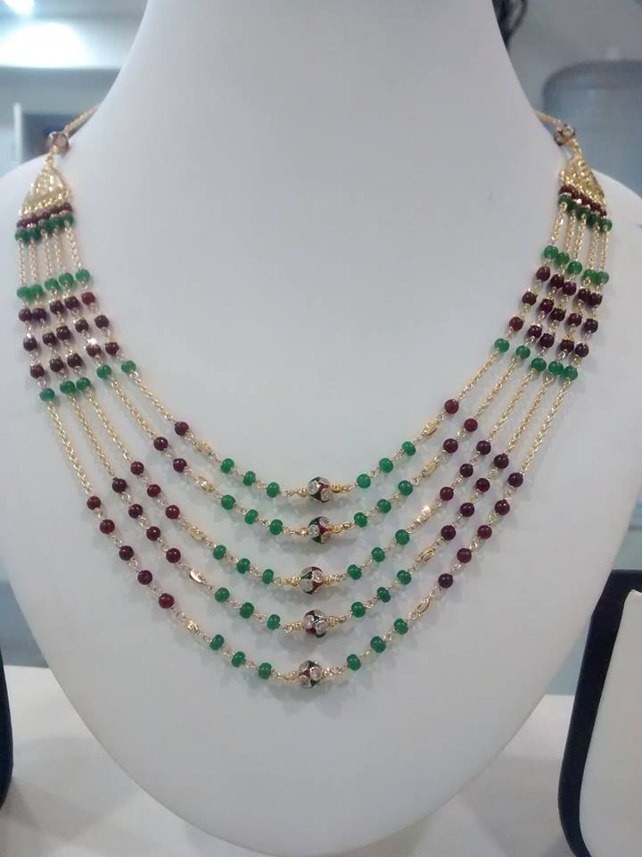 combination for drops necklace and jewellery chains south gold costumes ruby all designs single pearls beads emeralds simple with sea green layer