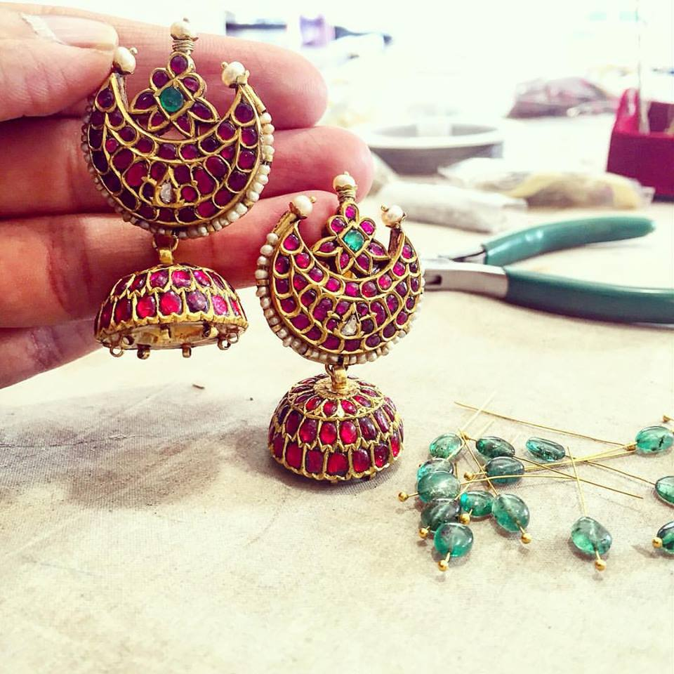 pair earrings amrapali earring party wear designer