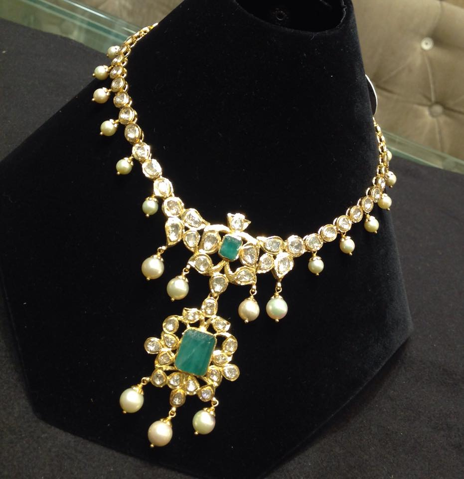 kundan long necklace