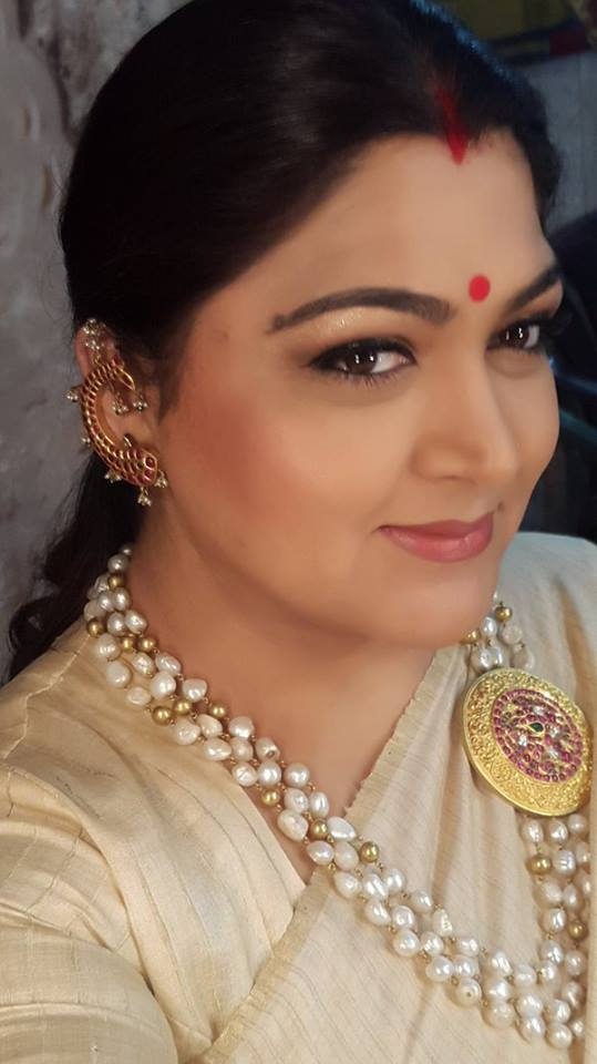 kushboo in multi string pearl chain ...