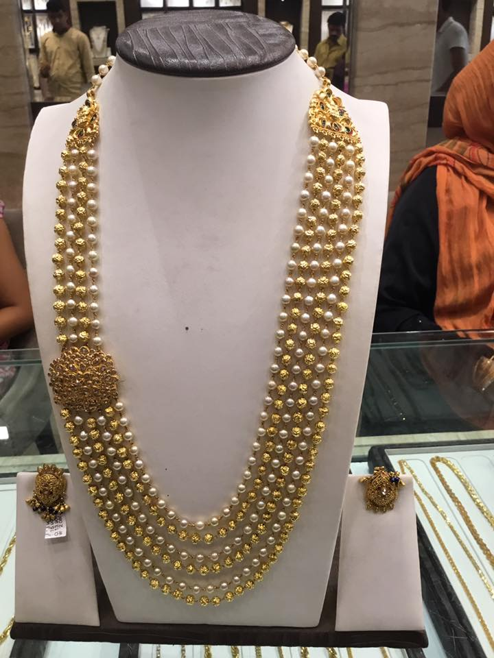 Pearl Gold Beads Chandraharam Boutiquedesignerjewellery Com
