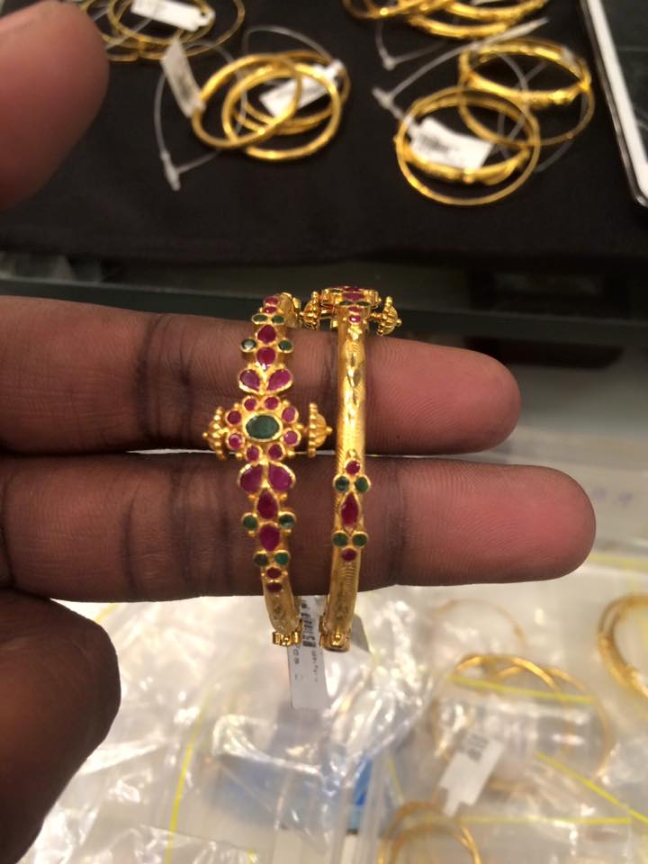 bay gold bangles new pattern – boutiquedesignerjewellery.com