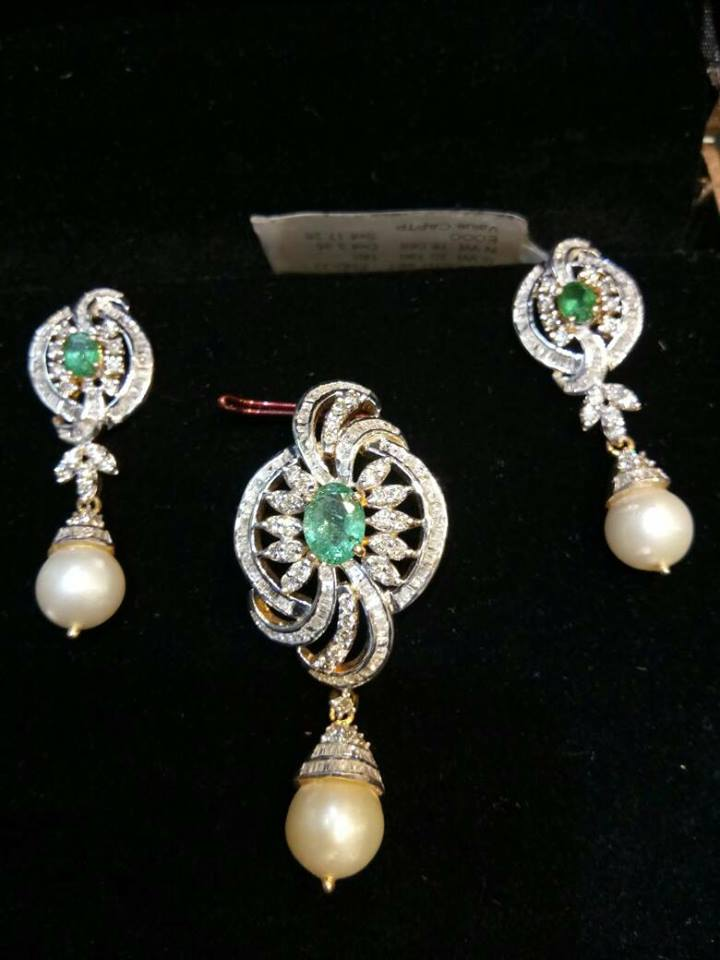 Diamond pendant sets with earrings boutiquedesignerjewellery check out this this collection of elegant diamond pendant sets with earrings aloadofball Gallery