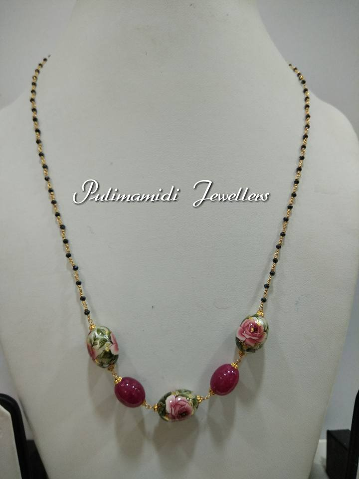 5 Gms Black Beads Chains Boutiquedesignerjewellery Com