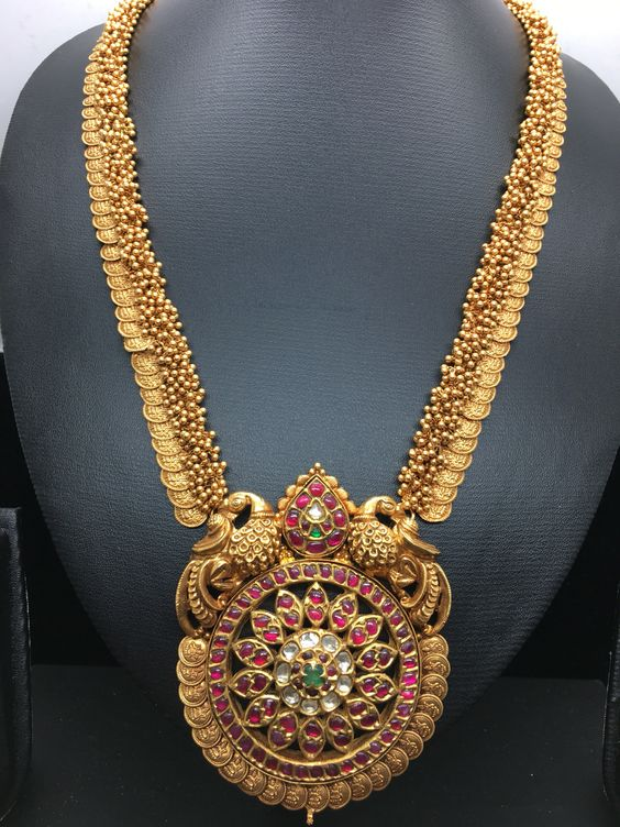 Kasu Haram With Small Gold Beads Boutiquedesignerjewellery Com
