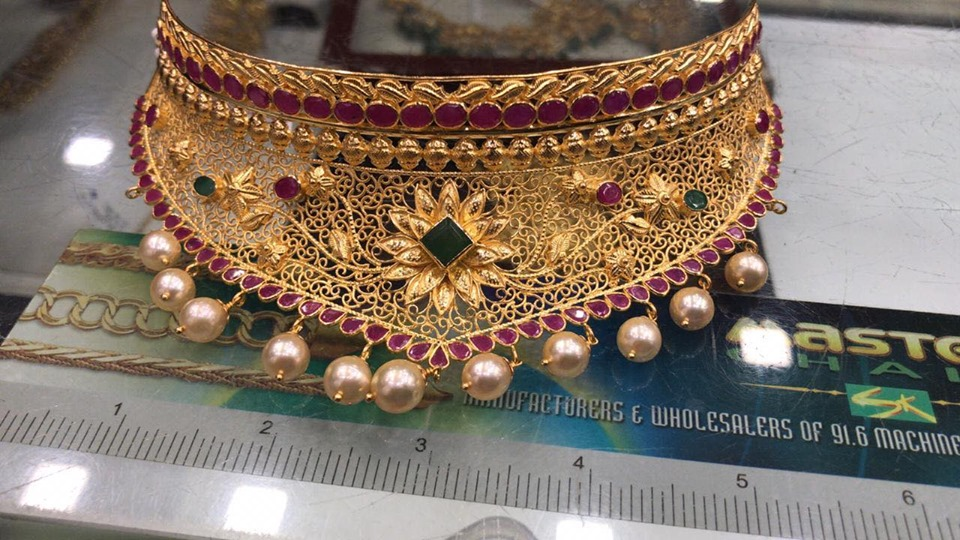 gold choker collection - boutiquedesignerjewellery.com
