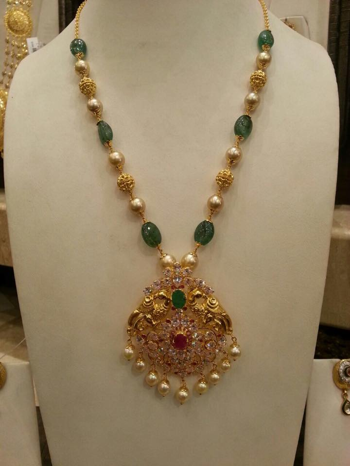 Fantastic south sea pearl chain with peacock pendant  JJ36