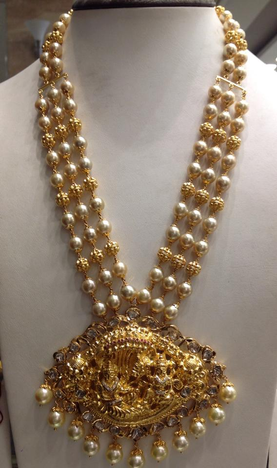 pearl chain with pachi pendant – boutiquedesignerjewellery.com